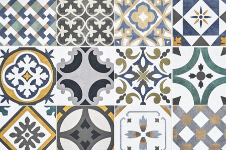 Texture of ceramic tiles in oriental. Turkish ceramic tiles lined on the wall. Ready idea for your design Texture of ceramic tiles in oriental East style. Turkish ceramic tiles lined on the wall. Ready idea for your design Stock Photo