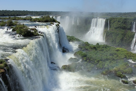 paraguay: Iguazu Falls in beautiful sunny day