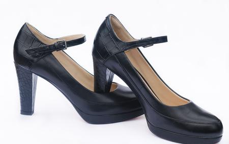 Black heels isolated