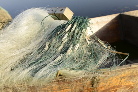 Fishing boat fishing nets   photo