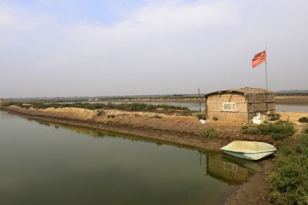 Pond fish house in northern China   photo