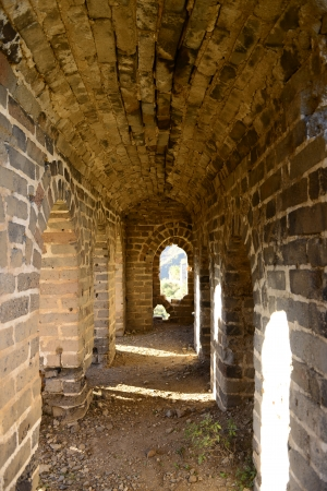 Chinese ancient Great Wall internal channels   photo