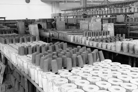 LUANNAN county - January 5: ceramic products of the mould production line in factory workshop, on January 5, 2014, LUANNAN county, hebei province, China.