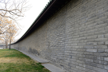 architectural style: The traditional Chinese architectural style of the wall