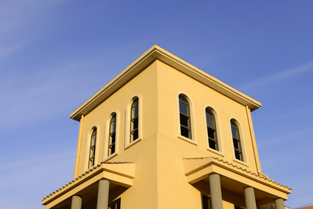 architectural style: Close-up of modern architectural style houses Editorial