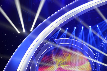 lighting background: Colorful background of stage lighting effects Stock Photo