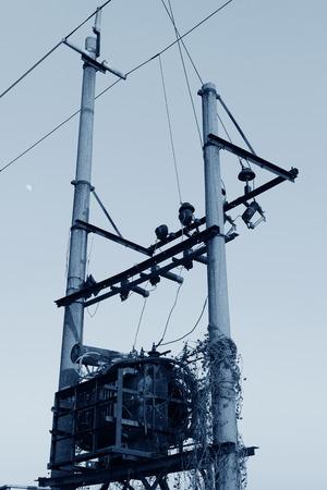 power transformer: power transformer in the farmland