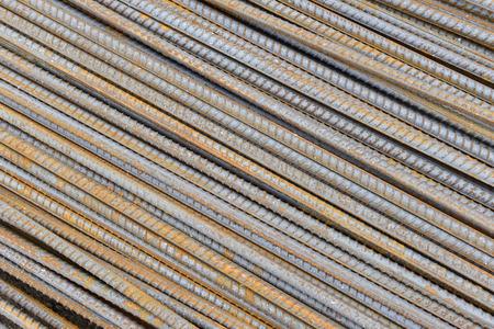 bundling: Many steel together, close-up