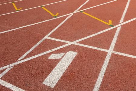 numbering: running track