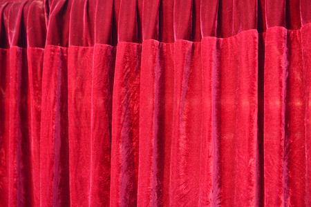 semaforo rojo: cortinas rojas, primer plano