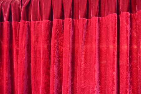 light red: Red drapes, close-up