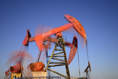 oil field:  operation of the pumping unit in oil field