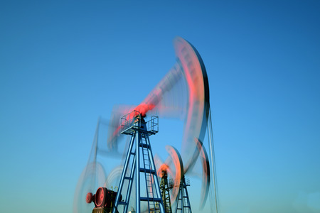 a unit: Oil pumping unit in operation