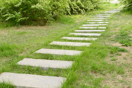 stone path: Stone path in the park Stock Photo
