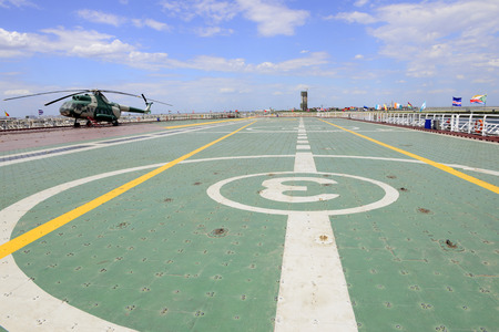 staying in shape: The deck of the helicopter