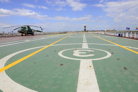 stay in the green: helicopter deck