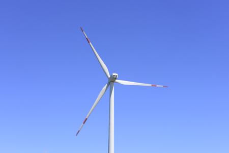 oxides: Wind turbines under the blue sky