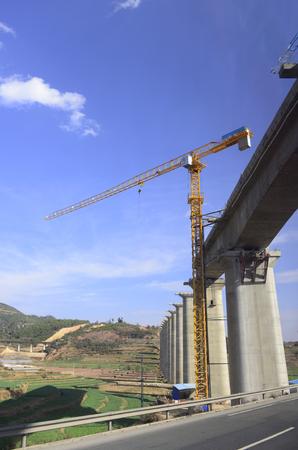 Concrete pier in construction site