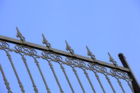 The iron fence  Stock Photo