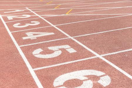 Beautiful athletics track  Фото со стока