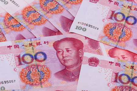 Renmingbi close up view