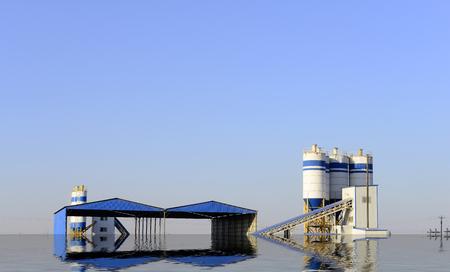 The cement concrete mixing equipment  Banque d'images