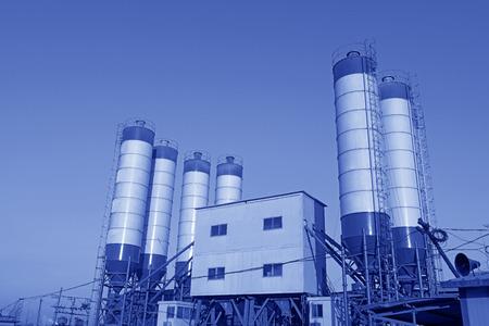 The cement concrete mixing equipment  Stock Photo