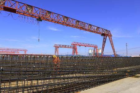 The welding workers in work, in the construction site  Standard-Bild