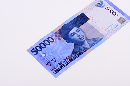 Rupiah on the white background