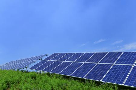 Solar power equipment, on the hillside