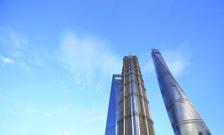 towering modern buildings in China