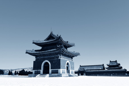 Qing dynasty royal mausoleum, zunhua in China 報道画像