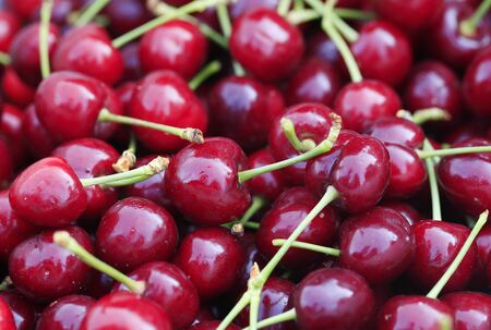 Ripe cherries closeup Stockfoto