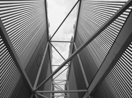 Beautiful steel frame building Stockfoto - 131283214