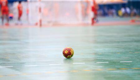 A handball on the playing field