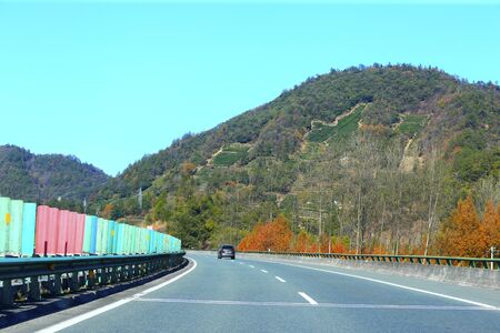 Beautiful roads among the mountains in the south of China Stockfoto