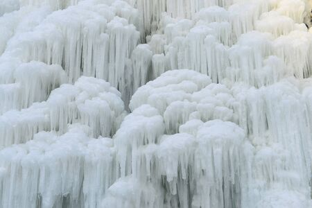 White icicles in winter in northern China