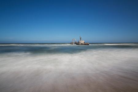 The Suiderkus Shipwreck on Skeleton Coast, Namibia