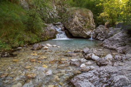 Natural waterpool, Val Vertova, Italy Archivio Fotografico