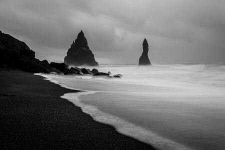 Reynisfjara beach anscape at dawn, Iceland