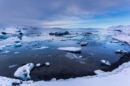 Jokulsarlon lagoon landscape, Iceland Imagens