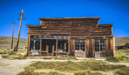 Old abandoned houses at Bodie ghost town, California