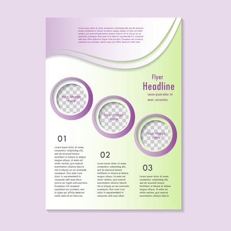 Vector flyer template design. For business brochure, leaflet or cover 矢量图像