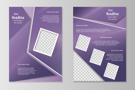 front page: template design with front page and back page. Business brochure or cover