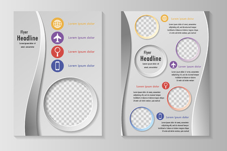 template design with front page and back page. Business brochure or cover