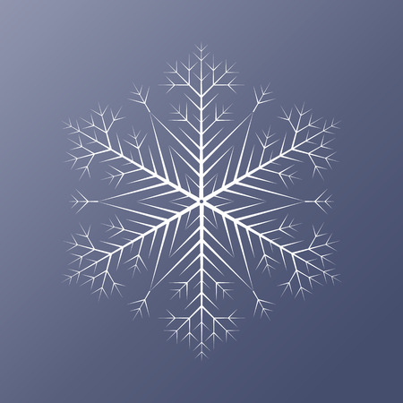 Decorative abstract snowflake. illustration Illustration