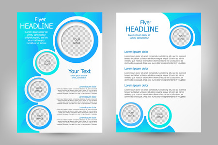 template: Vector flyer template design. For business brochure, leaflet or magazine cover