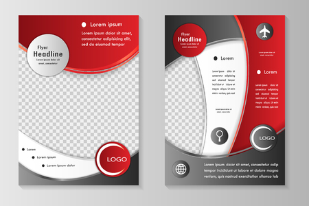 brochure cover design: Vector flyer template design with front page and back page. Business brochure or cover