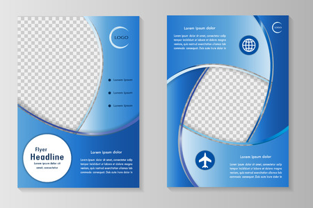 blank pages: Vector flyer template design with front page and back page. Business brochure or cover