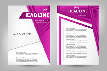 business book: Vector flyer template design. For business brochure, leaflet or magazine cover